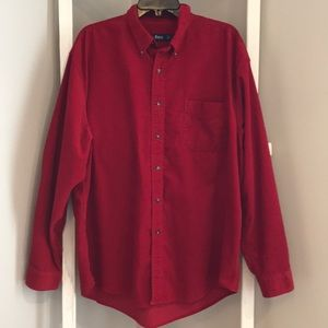 G.H. Bass & Co. Cozy Candy Apple Red Cord Shirt